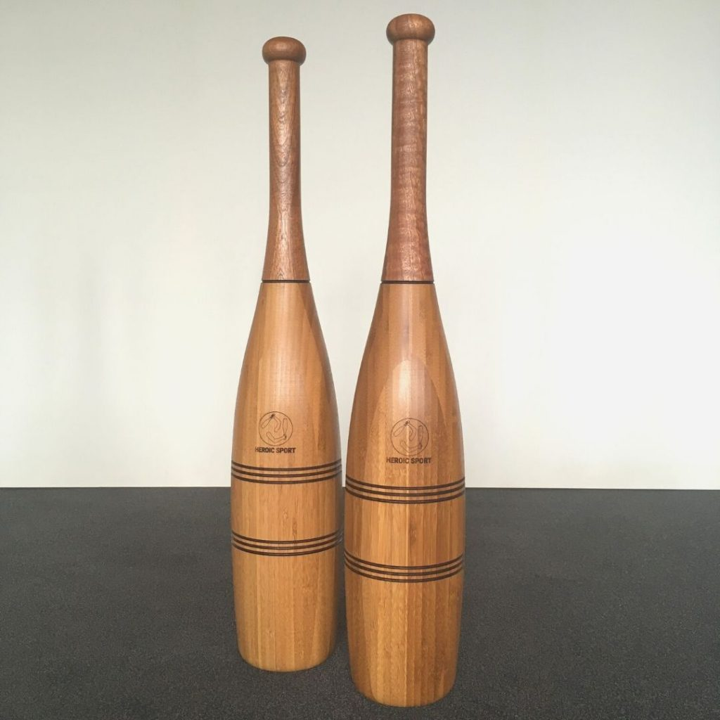wooden indian clubs large new york style