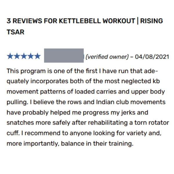 kettlebell program rising tsar review