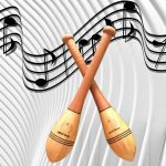 Training to music with Indian clubs