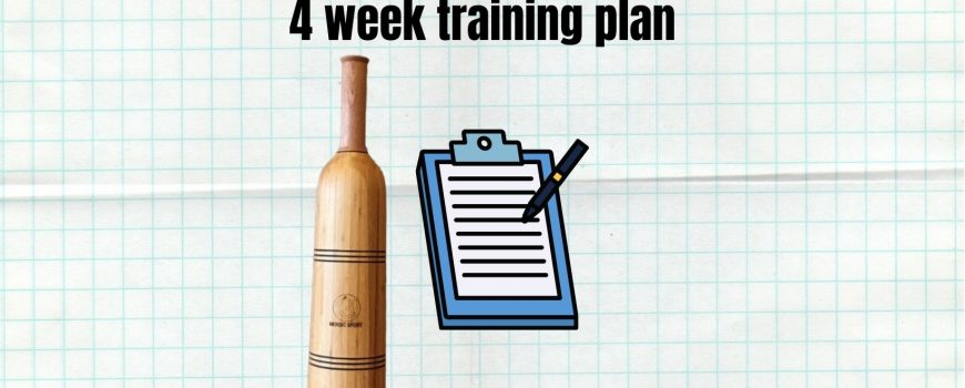 4 week training plan for club swinggers